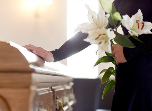 in any case the absence of a funeral service should not be viewed as a reason to neglect a show of sympathy