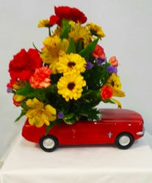 Ford Mustang Floral Arrangement