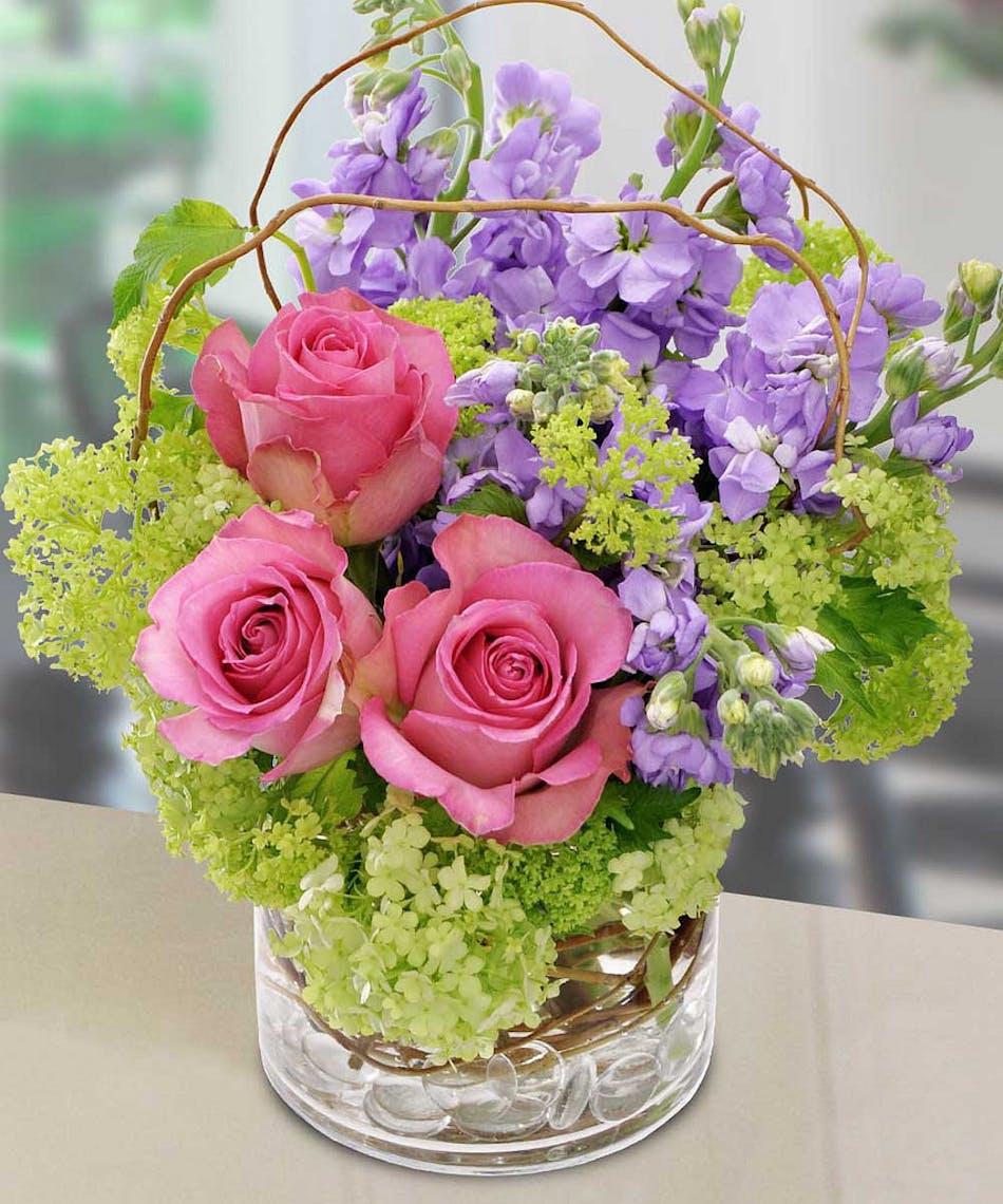 Hydrangea And Roses Floral Arrangement In Minneapolis Mn Schaaf
