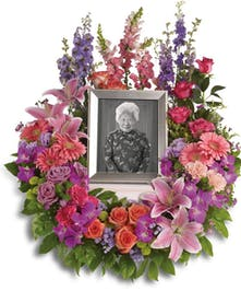 Mixed Floral Urn Funeral Piece