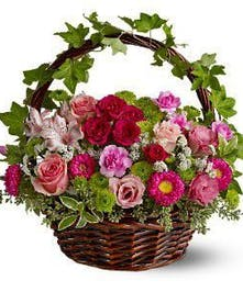 Rose, Aster, Carnation Victorian Garden Arrangement