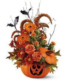 Halloween Pumpkin Fall Arrangement