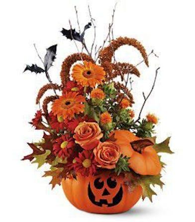 Halloween Pumpkin Fall Arrangement