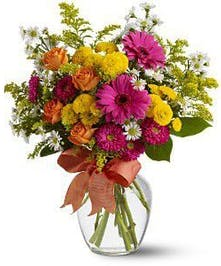 Warm Colored Summer Floral Arrangement