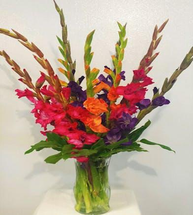 Summer Gladiolas Floral Arrangement