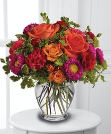Rose and Aster Floral Arrangement