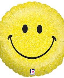 Yellow Smiley Mylar Balloon