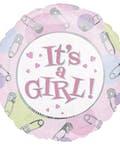 Baby Girl Mylar Balloon