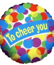 To Cheer You Mylar Balloon