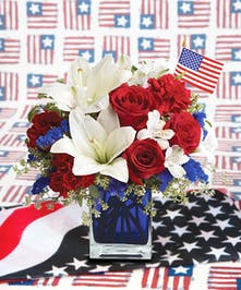 Red, White and Blue Floral Arrangement
