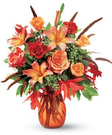 Rose and Lily Fall Arrangement