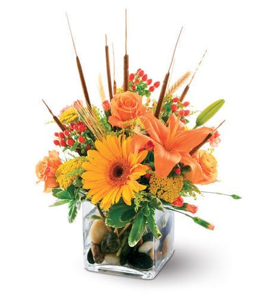 Gerbera and Lily Fall Arrangement