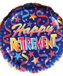 Happy Retirement Mylar Balloon