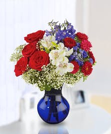 Patriotic Floral Arrangement