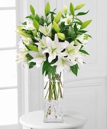 Winter White Lilies Arrangement