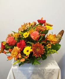 Beautiful Cornucopia for Thanksgiving