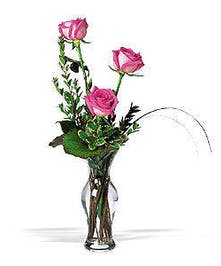 Three Roses Arranged