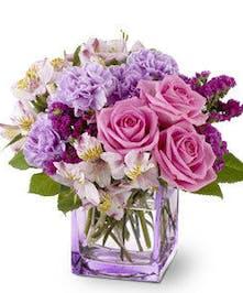 Lavender Rose and Carnation Floral Arrangement