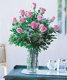 Pink Roses Arranged