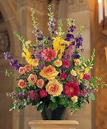 Assorted Floral Colorful Funeral Arrangement