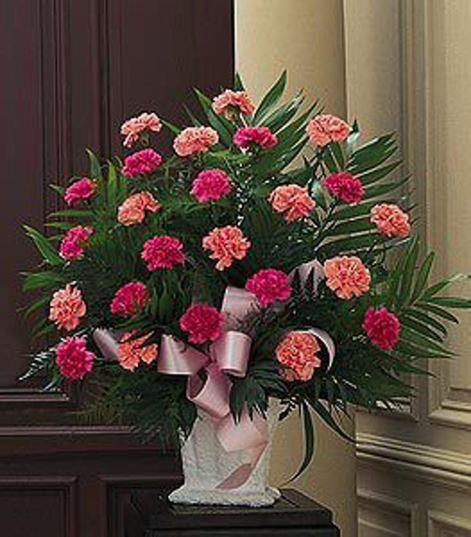 Classic Carnations All Pink Funeral Arrangement In Minneapolis Mn