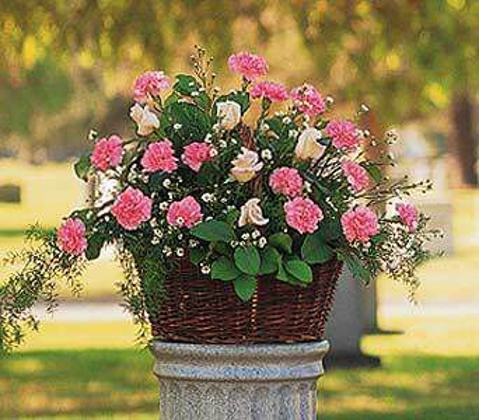 A Pink Reverence Funeral Arrangement In Minneapolis Mn Schaaf Floral