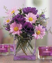 Lavender Daisy and Lisianthus Arrangement