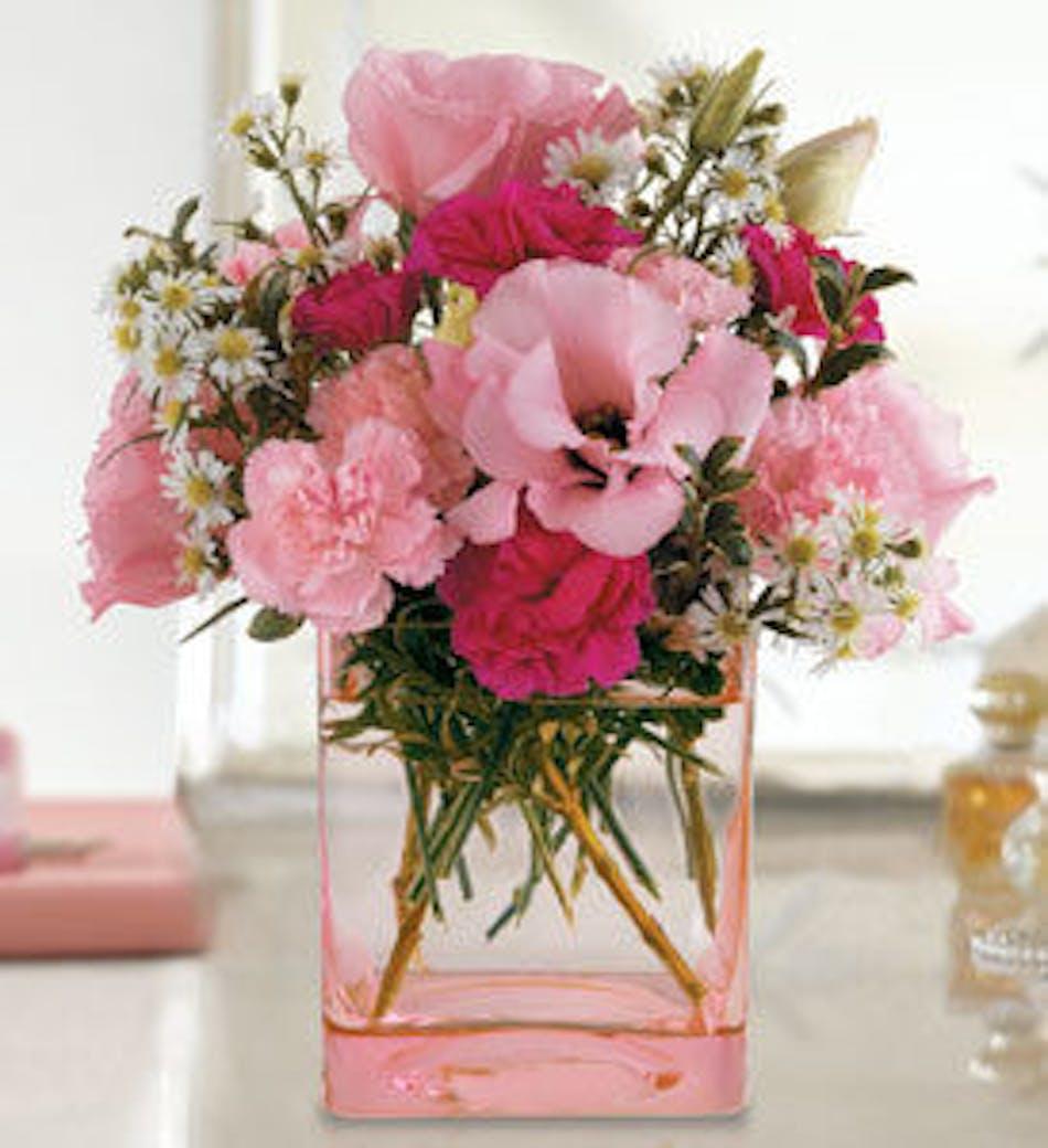 Pink Dawn Floral Arrangement In Minneapolis Mn Schaaf Floral