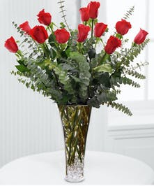 Ruby Red Rose Arrangement