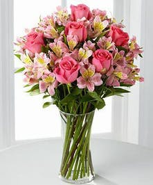 Rose and Alstromeria Pink Bouquet