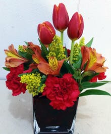 Spring Mixed Tulip Arrangement