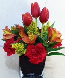 Spring Mixed Tulip Arrangement