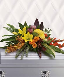 Tropical Floral Casket Spray