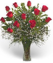 A Dozen Red Roses Arranged