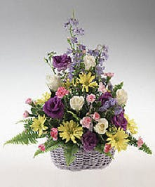 Pastel Flowering Easter Basket