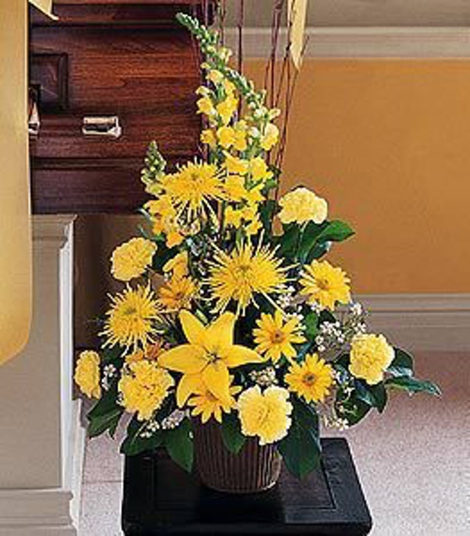 Brighter Blessing Yellow Funeral Arrangement In Minneapolis Mn