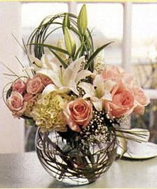 Lily, Rose and Hydrangea Arrangement