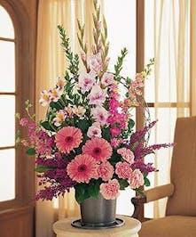 Pink Funeral Arrangement