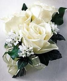 White Colonnade Corsage