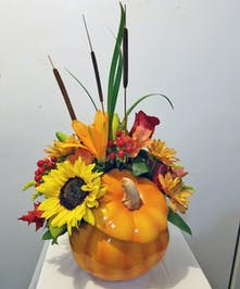 Fall Glory Pumpkin Bouquet
