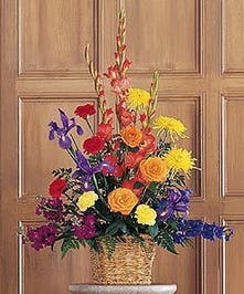 Colorful Mixed Floral Funeral Arrangement