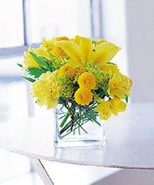 Yellow Tropical Floral Arrangement