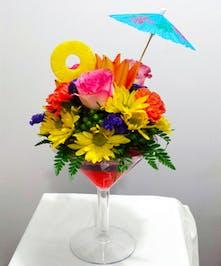 Martini Floral Arrangement