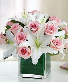 Pink Rose & Lily Floral Arrangement