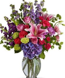 Celebration of Color Mixed Floral Arrangement