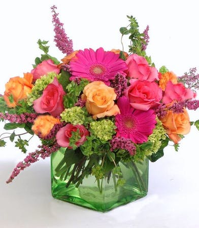 Rose, Gerbera, and Hydrangea Floral Arrangement