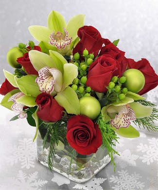Holiday Orchids and Roses